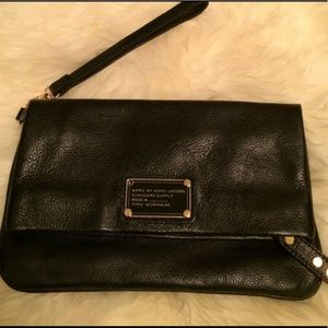 Marc jacobs Black leather foldover handcarry
